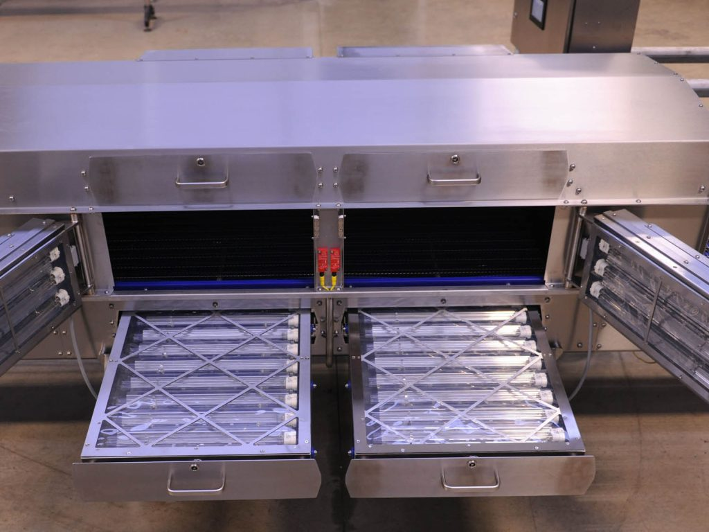 A UV tunnel designed and manufactured by Asmech Systems limited.