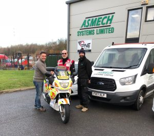 Asmech support local blood bikes charity