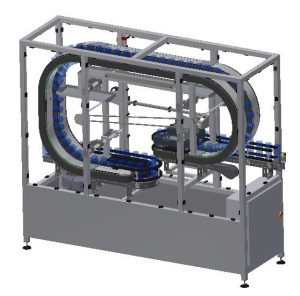 Conveyor system for Air rinsing